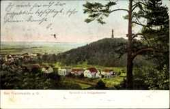Postcard Bad Freienwalde an der Oder, Fernsicht nach dem Kriegerdenkmal