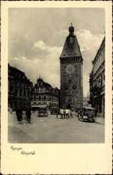 Postcard Speyer am Oberrhein Rheinland Pfalz, Altpörtel, Straßenpartie