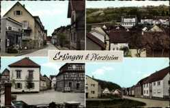 Postcard Ersingen Kämpfelbach im Enzkreis, Straßenpartien, Fachwerkhäuser