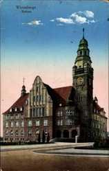 Postcard Wittenberge in der Prignitz, Blick auf das Rathaus