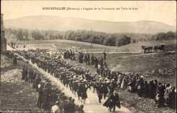 Ak Roncesvalles Navarra, Llegada de la Procession del Valle de Arce, Fest