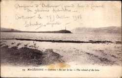 Postcard Ostrovo Mazedonien, Ile sur le lac, the island of the lake, Insel