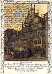 Künstler Ak Pethig, Ernst, Lemgo in Nordrhein Westfalen, Stammhaus Wippermann