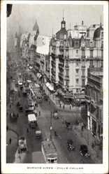 Postcard Buenos Aires Argentinien, Calle Callao, Straßenbahn, Passanten, Autos