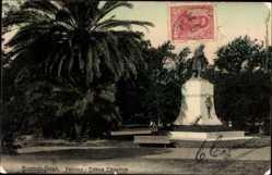 Postcard Buenos Aires Argentinien, Palermo, Estatua Echeverria, Blick auf Denkmal