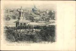 Postcard Valparaíso Chile, Plaza de la Victoria, Blick auf einen Platz, Gebäude