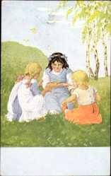 Künstler Ak Schenkel, Franziska, Frühlingsboten, Serie 9 153