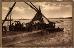 Postcard Lisboa Lissabon Portugal, Tejo, Venda de Sardinha, Sardinenverkäufer