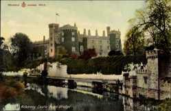 Postcard Kilkenny Irland, Castle from Bridge, Burg an der Brücke aus gesehen