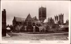Postcard Lincoln East Midlands England, Cathedral, Kathedrale