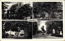 Postcard Ellerhoop Kreis Pinneberg, Hausansichten, Straßenpartie