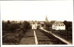 Foto Ak Nottuln in Westfalen, Ortschaft, Straßenpartie, Kirche, Gartenanlage