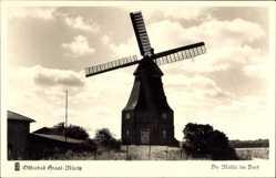 Postcard Graal Müritz im Kreis Rostock, Die Windmühle im Dorf