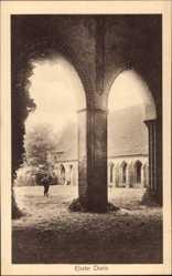 Postcard Chorin im Kreis Barnim, Innenhof des Klosters
