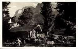 Postcard Grainau im Kreis Garmisch Partenkirchen, Neuneralm gegen Waxensteine