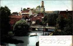 Postcard Neuhaus an der Pegnitz im Nürnberger Land Bayern, Burg Veldenstein