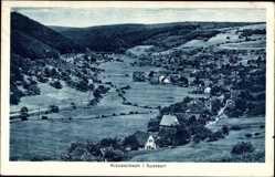 Postcard Krausenbach Dammbach Spessart, Totalansicht der Ortschaft