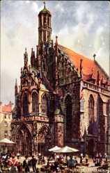 Künstler Ak Nürnberg in Mittelfranken Bayern, Frauenkirche, Tuck 612