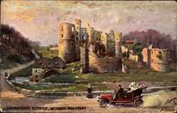 Künstler Ak Beraud, Luxemburg, Luxemburger Schweiz, Schloss Beaufort, Tuck 744