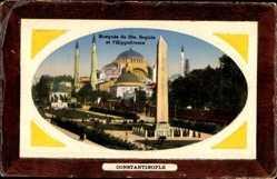 Präge Passepartout Ak Konstantinopel Istanbul Türkei, Mosquée de Ste. Sophie