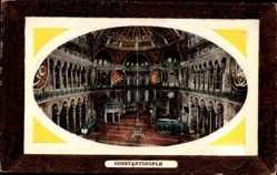 Präge Passepartout Ak Konstantinopel Istanbul Türkei, Hagia Sophia