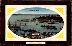 Präge Passepartout Ak Konstantinopel Istanbul Türkei, Pointe de Sérail