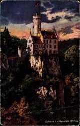 Postcard Lichtenstein Baden Württemberg, Blick auf das Schloss