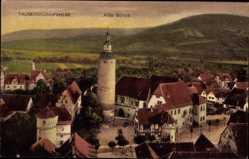 Postcard Tauberbischofsheim, Blick auf das Alte Schloß, Häuser