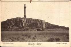 Postcard Ostrovo Kroaten, Ruines, Antike Ruinen, Turm, Felswand