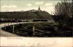Postcard Emmerich an Niederrhein, Straßenpartie, Kutsche, Ort, Eltenberg