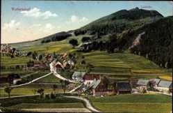 Postcard Waltersdorf Großschönau im Kreis Görlitz, Ortschaft mit Lausche