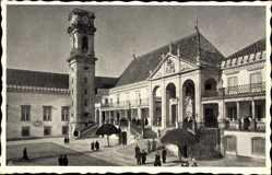 Postcard Coimbra Portugal, Universidade, Universität, Turmuhr