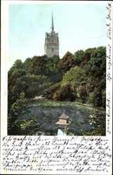 Postcard Rostock in Mecklenburg Vorpommern, Blick auf die Teufelskuhle, Turm