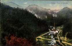 Postcard Zittau in der Oberlausitz, Blick in das Oybintal