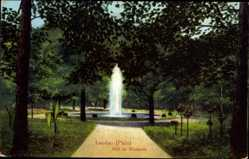 Postcard Landau in der Pfalz, Idyll im Westpark, Springbrunnen, Spazierweg