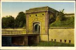 Postcard Germersheim Rheinland, Weißenburger Tor, Porte, Brücke, Eingang