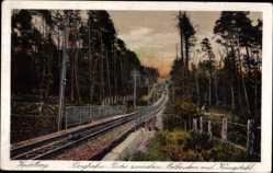 Postcard Heidelberg Neckar, Bergbahn, Partie zwischen Molkenkur und Königstuhl
