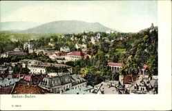 Postcard Baden Baden, Teilansicht mit Blick über die Dächer