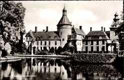 Postcard Anholt Isselburg Westfalen, Blick auf das Schloss, Gewässer