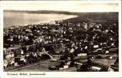 Postcard Ostseebad Ahlbeck Heringsdorf, Gesamtansicht der Ortschaft