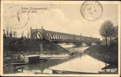 Postcard Kehl am Rhein Ortenaukreis, Blick auf die Straßenbrücke
