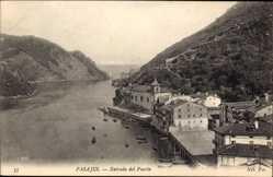 Postcard Pasaia Pasajes Baskenland, Entrada del Puerto, Hafeneinfahrt
