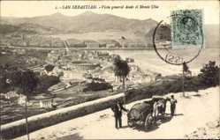 Postcard Donostia San Sebastián Baskenland, Vista general desde el Monte Ulia