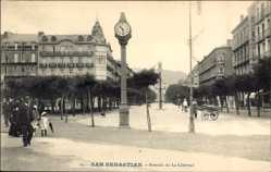 Postcard Donostia San Sebastián Baskenland, Avenida de la Libertad