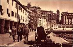 Postcard Donostia San Sebastián Baskenland, Fishing Harbour, Fischerhafen