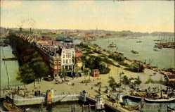 Postcard Rotterdam Südholland Niederlande, Vogelschau auf den Hafen