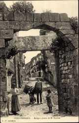 Postcard Fuenterrabia Baskenland, Antigua puerta de San Nicolas