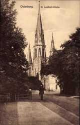 Postcard Oldenburg in Niedersachsen, Ansichtder St Lamberti Kirche
