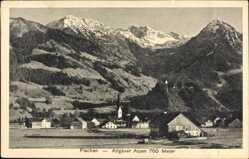 Postcard Fischen im Allgäu in Schwaben, Allgäuer Alpen, Ort, Kirche