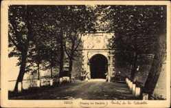 Postcard Jülich in Nordrhein Westfalen, Eingang der Zitadelle